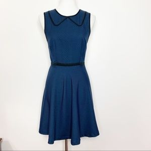 Coincidence & Chance Twill Piped Collar Dress NWT